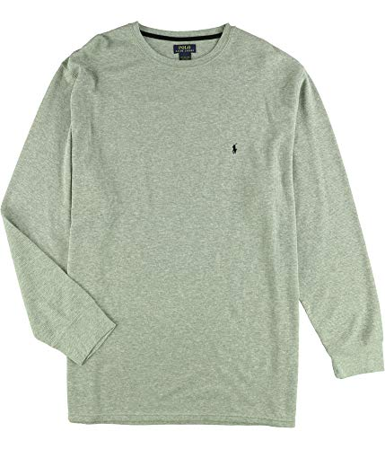 Ralph Lauren Mens Waffle-Knit Thermal Pajama Shirt, Grey, 4XT