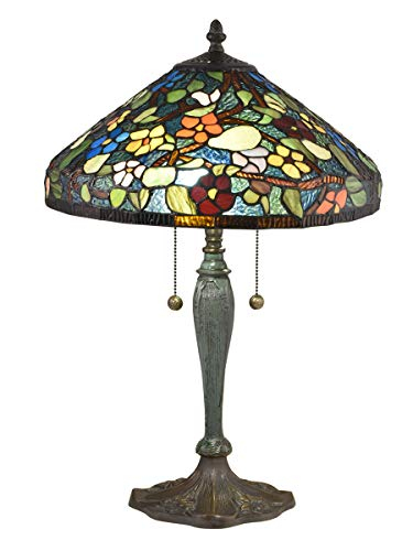 Dale Tiffany TT18189 Southern Garden Table Lamp, Antique Bronze Verde (Dale Tiffany Garden)