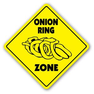 ONION RING ZONE Sign Decal xing gift novelty batter recipes dips sauces deep - Ring Dip Onion