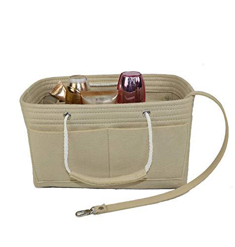 Purse Organizer Insert, Felt Insert Bag with Handle & Keychain Bag in Bag for Handbag Purse Organizer it with Tote & Handbag, Speedy 40, Beige Insert In Bag, Beige (X-Large)