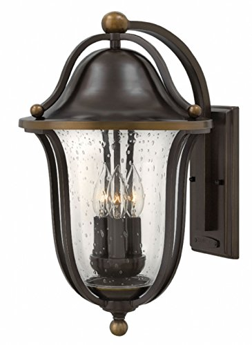 - Hinkley 2645OB Traditional Three Light Wall Mount from Bolla collection in Bronze/Darkfinish,
