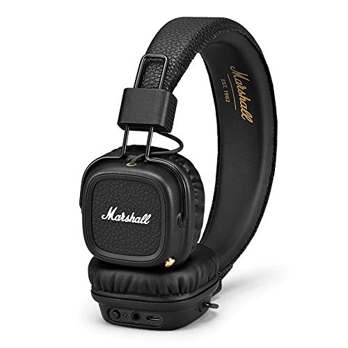 Marshall Major II Bluetooth On-Ear Headphones, Black (4091378) – Discontinued