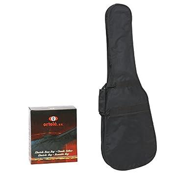 Ortola - Funda Guitarra Electrica Ref. 20B E Con Caja, Negro: Amazon.es: Instrumentos musicales