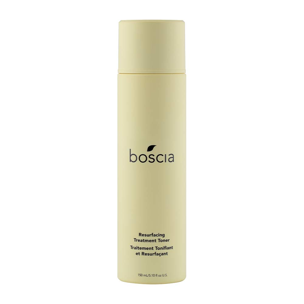 boscia Resurfacing Treatment Toner With Apple Cider Vinegar - Vegan, Cruelty-Free, Natural and Clean Skincare | Age-defying Face Toner for Exfoliating and Revitalizing Skin, 5.10 fl oz