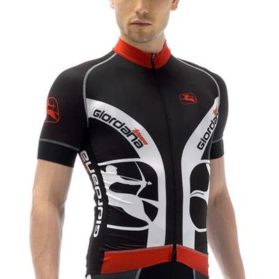 Giordana Mens FormaRed-Carbon Trade Custom Short Sleeve Cycling Jersey - GI-S2-SSFR-TRAD (Black/White/Red - XL)