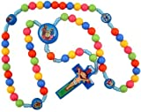 Multicolor Saint Prayer Beads with Nativity