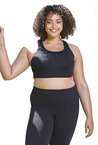 "A Big Attitude Plus Size Racer Back Sports Bra - on TV Show ""THE BIGGEST LOSER"""