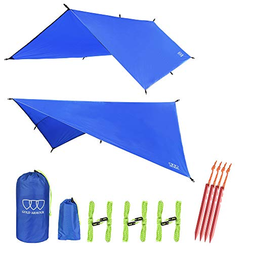 Gold Armour Hammock Tent Fly Tarp Waterproof (Blue)