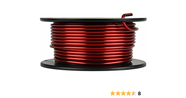 TEMCo 16 AWG Copper Magnet Wire 5 lb 628 ft 200/°C Magnetic Coil Winding