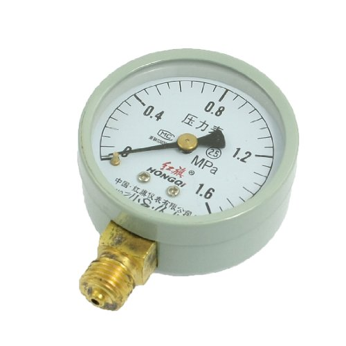 """Class 2.5 0-1.6Mpa Horizontal Air Pressure Gauge 1/4"""" Thread"""