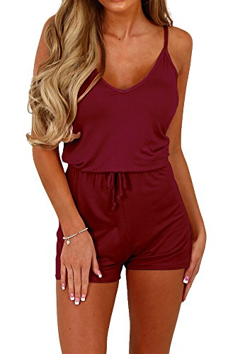 Women's Steampunk Style Short Pants Spaghetti Rompers Jumpsuit Outfit S
