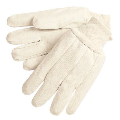 Cotton Canvas Gloves - 12 oz. canvas gloves w/knit wrist men's size [Set of 12] ()