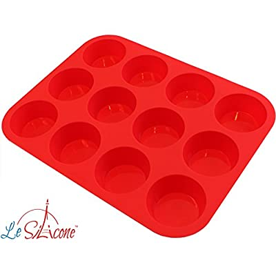Le Silicone - 12 Cup Nonstick Muffin Cupcake Pan