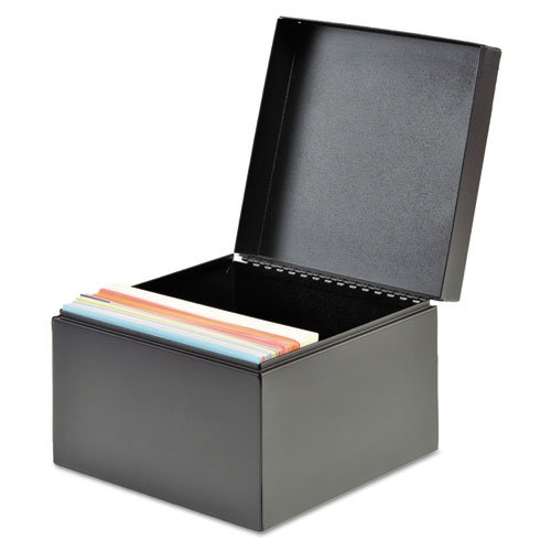 SteelMaster 263644BLA Index Card File, Holds 500 4 x 6 Cards, Black