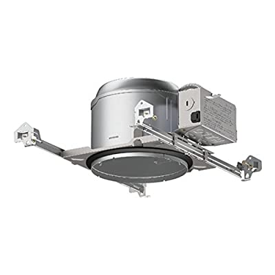 Halo E27ICAT E26 Series Aluminum Recessed Lighting Shallow New Construction Insulation Contact Rated Air-Tite Housing, 6