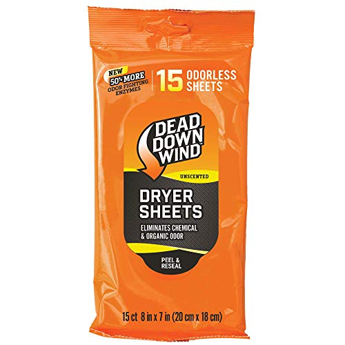 Dead Down Wind 1113 Dryer Sheets (15 Pack)