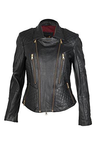 Jilani - Blouson - Veste en cuir - Femme Noir Noir