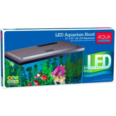 (Aqua Culture LED Hood for 10 Gallon Aquariums with Long-life LED, Low-profile hood)