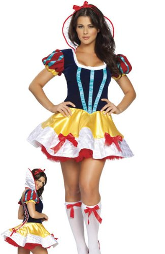 Adult womens snow white outfit mini dress hen night halloween fancy dress  costume clothing size 8 10 12  Amazon.co.uk  Toys   Games 3220c3a66