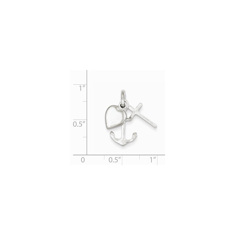 Sterling Silver Anchor /& Heart Pendant