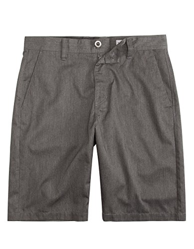 Volcom - Mens Frkin Mdrn Chno Shorts, Size: 33, Color: Charcoal Heather
