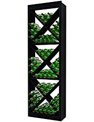 Wine Cellar Innovations RP MB SDC G2 A3 Traditional Series Solid Diamond Cube Wine Rack Rustic Pine Midnight Black Stain