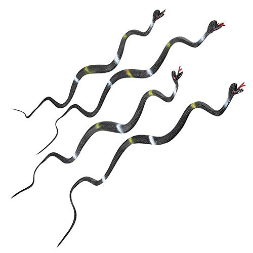 "24"" Black and White Stripes Wiggly Vinyl Snake"