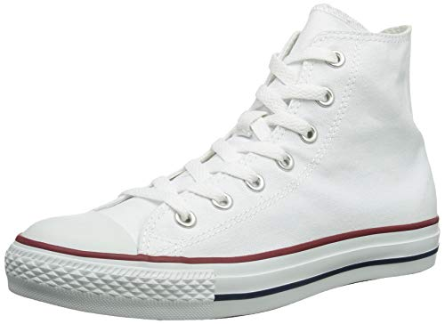 Converse Unisex Chuck Taylor All Star High Top Sneakers Optical White Size 6 mens/8 womens (Taylor Converse High Top Chuck)