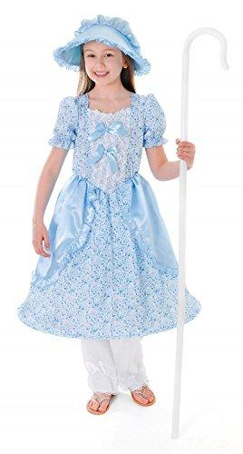 Bristol Novelty CC148 Little Bo PeepKid's Costume, Medium, Height 122 - 134 cm, Approx Age 5 - 7 Years, Little Bo Peep (M)]()