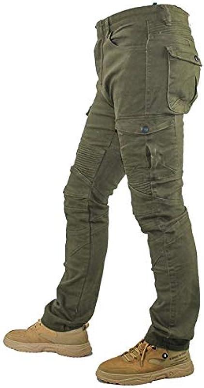 WCCI męskie spodnie motocyklowe, dżinsy motocyklowe, z 4 ochraniaczami: Odzież