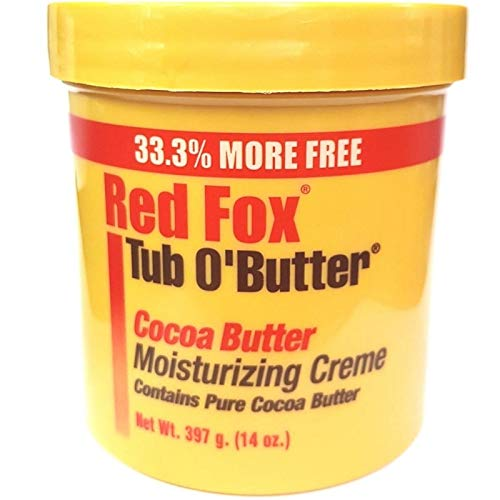 Red Cocoa (Red Fox Tub O'Butter Cocoa Butter, Moisturizing Creme, 14 oz (Pack of 3))