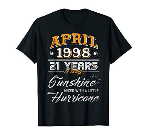 April 1998 Shirt, 21 Years Wedding Anniversary 2019 T-shirts -
