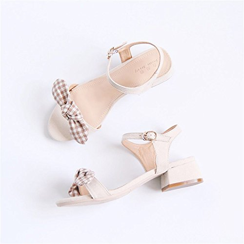 Color 1 Peep HUAHUA Women Toe 6XwqxRB1nU