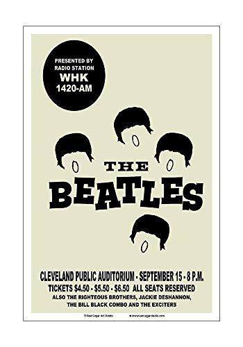 Raw Sugar Art Studio Beatles 1964 Cleveland Concert Poster
