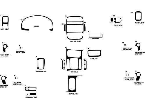 - Rdash Dash Kit Decal Trim for Saturn L-Series 2002-2005 - Matte (Silver)