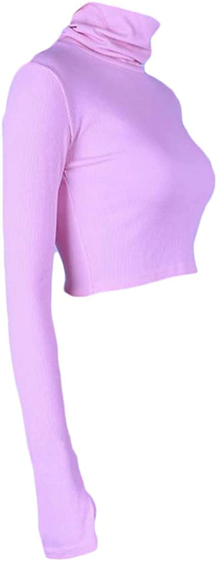 Joe Wenko Womens Long Sleeve Zipper Slim Turtle Neck Fleece Sweatshirts
