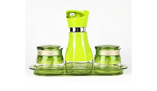 HCJTLP FJXLZ® Vidrio Creativo de la Especia del Tarro de Las Botellas del condimento de la Mezcla Pequeño y Ligero Almacenamiento Conveniente Bote (Color ...