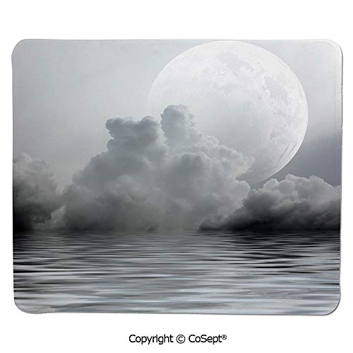 Premium-Textured Mouse pad,Misty Air in The Ocean Monochrome