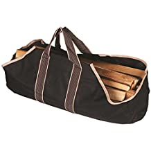 Rocky Mountain Goods Canvas Firewood Carrier Bag - Heavy duty durable canvas for structure with right amount of flex - No slip grip - Fold open design for easy and secure loading