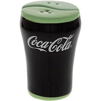 NEW COCA-COLA BELL GLASS SALT /& PEPPER SHAKER SET COKE SALT /& PEPPER SHAKERS