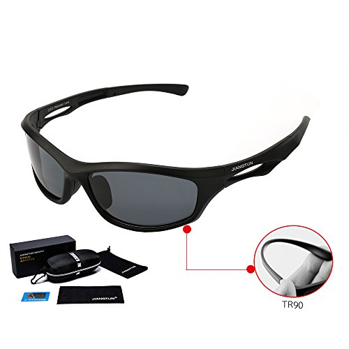 JIANGTUN Outdoor Sportswear Sunglasses- Polarized Lenses- For Men & Women Eyewear- 100% UVA & UVB Protection- Stylish & Comfortable Running Glasses- Protective Case - Uvb 100 Uva