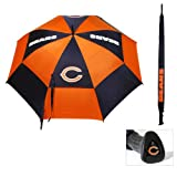 "Team Golf NFL 62"" Golf Umbrella with Protective Sheath, Double Canopy Wind Protection Design, Auto Open Button"