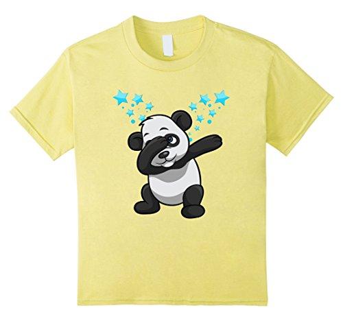 Yellow Dancing Bear (Kids Dabbing Panda Bear Stars Dancing Funny Graphic Shirt 12 Lemon)