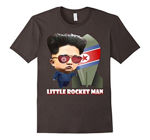 [Mens Little Rocket Man North Korea 86 45 Anti Trump T-Shirt XL Asphalt] (Un Costume Korea)