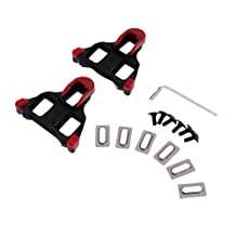 MonkeyJack 2 Pieces Cycling Road Bicycle Self-locking Pedal Cleats Set for Road Bike SPD Shoes