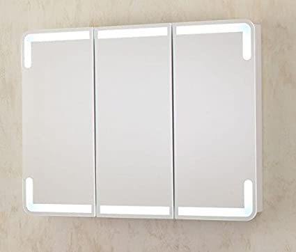 Specchio Bagno Con Ante.Bagno Italia Specchiera 95x70x15 Con Led Specchio Contenitore