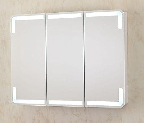 Specchio Bagno Contenitore Led.Bagno Italia Specchiera 95x70x15 Con Led Specchio Contenitore
