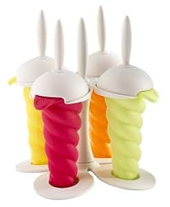 Mastrad A47221 Ice Pop Molds, White Base