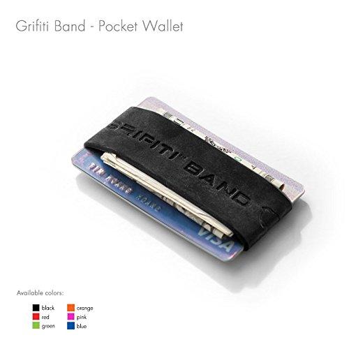 GRIFITI Band Joes Landscape Front Pocket Wallet Super Slim Profile Colorful Silicone Improved Broccoli Band for Cards, License, Cash