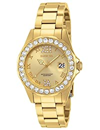 Invicta Women's 15252 Pro Diver Gold Dial Gold plated Stainless Steel Watch